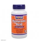 NOW Hyaluronic Acid - Гиалуроновая кислота с Пролином - БАД