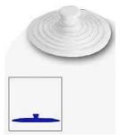 Пробка БОЛЬШАЯ / для раковин, ванн, душевых кабин d=15,5 см Греция